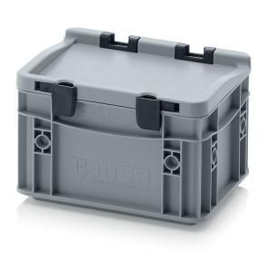 Euro containers with hinge lid