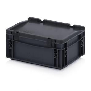 ESD Euro containers with hinge lid