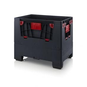 Foldable ESD big boxes with 4 opening flaps