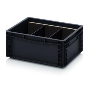 ESD transverse dividers for ESD Euro containers