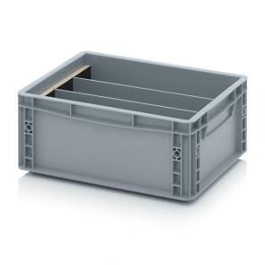 Longitudinal dividers for Euro containers