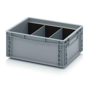 Transverse dividers for Euro containers