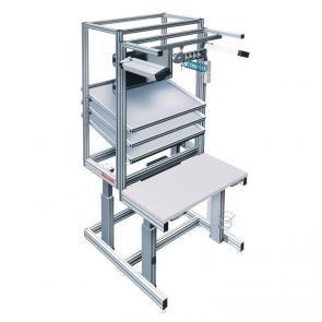 Height-adjustable work bench