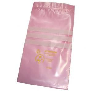 Pink Poly Bags with Zipper