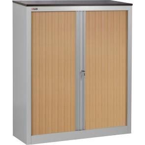 Office cabinet KD-142 (2 shelves) with louvre doors