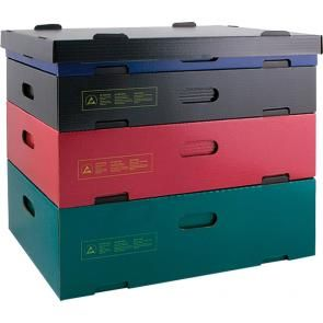 Stackable containers - colour: BLACK