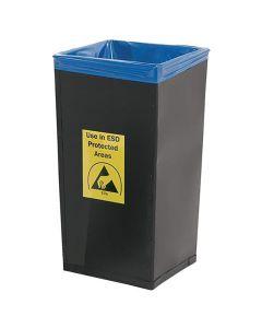 ESD-Abfallbehälter, schwarz, leitfähig, 120 Liter