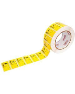 Barcode-Etiketten für Teraohmmeter EP-RM 4000, 100 Stück auf Rolle, 50 x 25 mm
