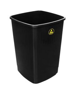 ESD-Abfallbehälter, schwarz, leitfähig, 50 l
