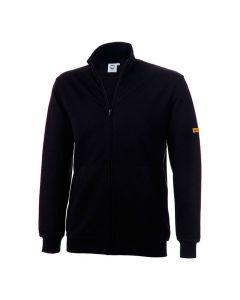 ESD Sweat-Jacke (Zip), Seitentaschen, bis Kinn, navy 300 gr/m2