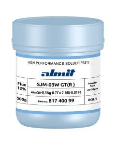 Almit ALM81820099 Lotpaste bleifrei, SJM-03W GT(R)-S, 20-38 µm, Dose 500 g