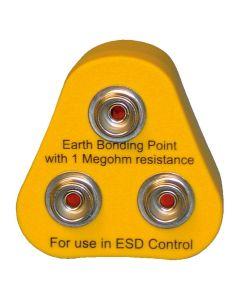ESD Erdungsbaustein, ESD / EGB, 2 x 10 mm DK 1 x M5
