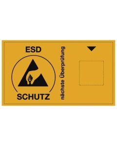 ESD Prüfaufkleber, Nächste Überprüfung (ohne Jahr), 60 x 35 mm, 30 Stk.