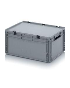 Auer ED 64/27. Eurobehälter mit Scharnierdeckel, 60x40x28,5 cm