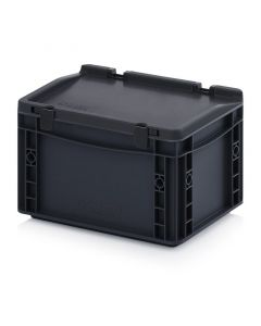 Auer ESD ED 32/17 HG. ESD Euro containers with hinge lid