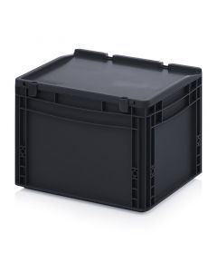 Auer ESD ED 43/27 HG. ESD Euro containers with hinge lid