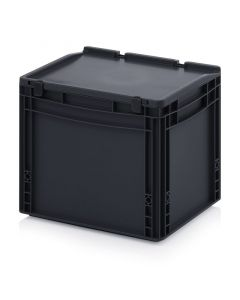 Auer ESD ED 43/32 HG. ESD Euro containers with hinge lid