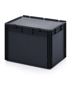 Auer ESD ED 64/42 HG. ESD Euro containers with hinge lid