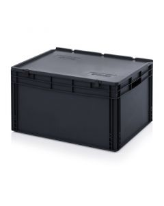 Auer ESD ED 86/42 HG. ESD Euro containers with hinge lid