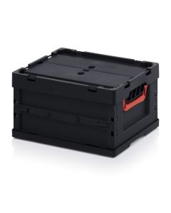 Auer ESD FBD 43/22. ESD foldable boxes with lid, 40x30x22 cm