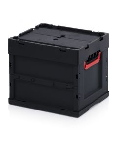 Auer ESD FBD 43/32. ESD foldable boxes with lid, 40x30x32 cm