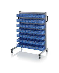 Auer SR.L.3109. System trolleys for rack boxes, 56 pieces RK 3109 (30x11.7x9 cm)