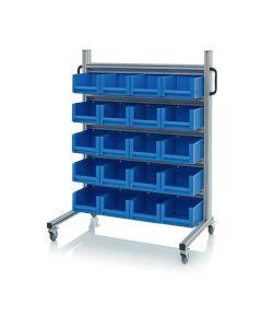 Auer SR.L.3214. System trolleys for rack boxes, 20 pieces RK 3214 (30x23.4x14 cm)