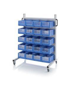 Auer SR.L.4214. System trolleys for rack boxes, 20 pieces RK 4214 (40x23.4x14 cm)