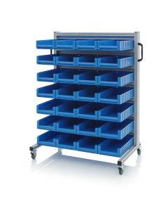 Auer SR.L.5209. System trolleys for rack boxes, 28 pieces RK 5209 (50x23.4x9 cm)