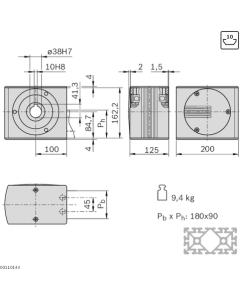 Bosch Rexroth 3842526414. Antriebskopf LF20S