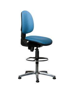 Warmbier 1710.KS.B.  Drehstuhl Comfort Chair Hochstuhlversion mitleiter, ESD, blau