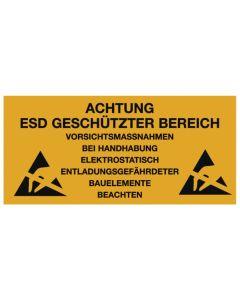 Warmbier 2850.300500.KS.D.  Kunststoffschild zum Aufhängen, ESD, deutsch