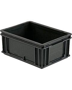 A1-ESD 21-300-0015. ESD-Behälter 400x300x75 mm, schwarz
