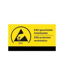 "Aufkleber ""ESD-geschützter Arbeitsplatz"""