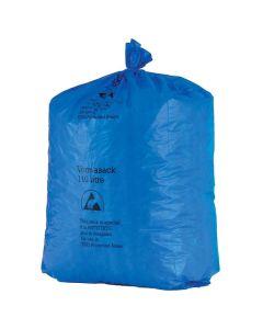 Müllbeutel blau, antistatisch, 50 Liter