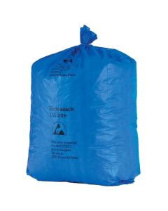 Müllbeutel blau, antistatisch, 110 Liter