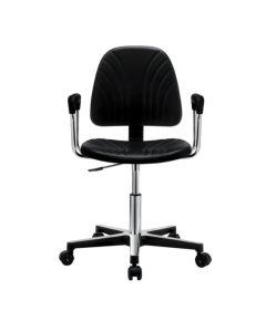 Antistatischer Arbeitsdrehstuhl GREF 245, Sitzhöhe 420-550 mm