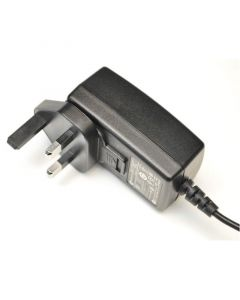 DESCO 222560. Adapter, 100-240VAC In, 12VDC 1.25A Out, UK Plug