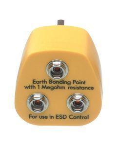 DESCO 231200. Earth Bonding Point, UK Plug, 3 x 10mm Studs
