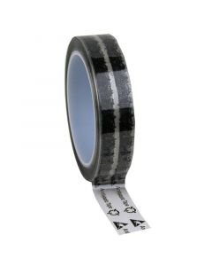 DESCO 242272. Wescorp Antistatic Clear Cellulose Tape with Symbols, 24MM x 65.8M, 76.2MM Plastic Core