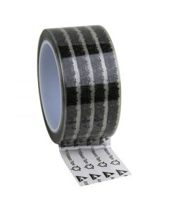 DESCO 242273. Wescorp Antistatic Clear Cellulose Tape with Symbols, 48MM x 65.8M, 76.2MM Plastic Core