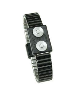DESCO 60677. Jewel MagSnap Dual-Wire Metal Wrist Band, Medium
