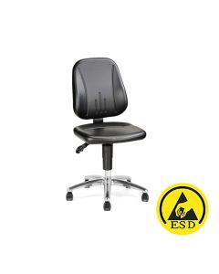 ESD-Arbeitsstuhl Treston Ergo 30 AL ESD, Kunstleder, schwarz