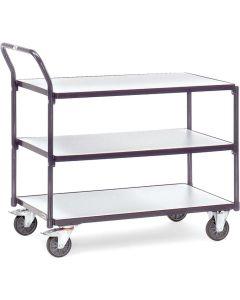 Fetra 1850. ESD-Tischwagen. 300 kg, mit 3 Böden, elektrisch leitfähige Ausführung