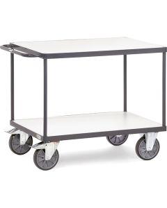 Fetra 9403. ESD-Tischwagen. bis 600 kg, mit 2 Böden, elektrisch leitfähige Ausführung