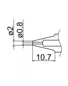 Hakko N3-08. Soldering tip Nozzle Size Φ0.8