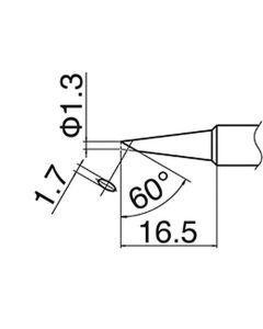Hakko T18-S6. Soldering tip Shape-S6