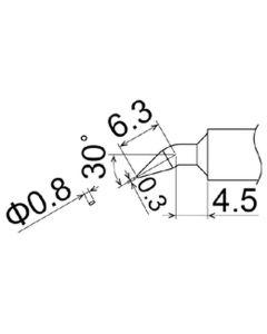 Hakko T22-JD08. Soldering tip Shape-0.8JD * Heavy Duty Type