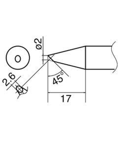 Hakko T33-BC2. Soldering tip Shape-2BC
