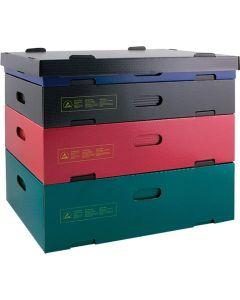 HANS KOLB WL31568. 10-CSC - Stapelcontainer, schwarz, schwarz